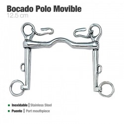 Bocado Zaldi Polo Movible Inoxidable 21253