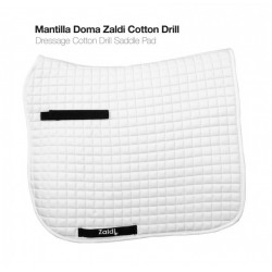 Mantilla Doma Zaldi Cotton Drill Blanca